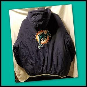Reebok*Miami Dolphins Men's Puffer Jacket